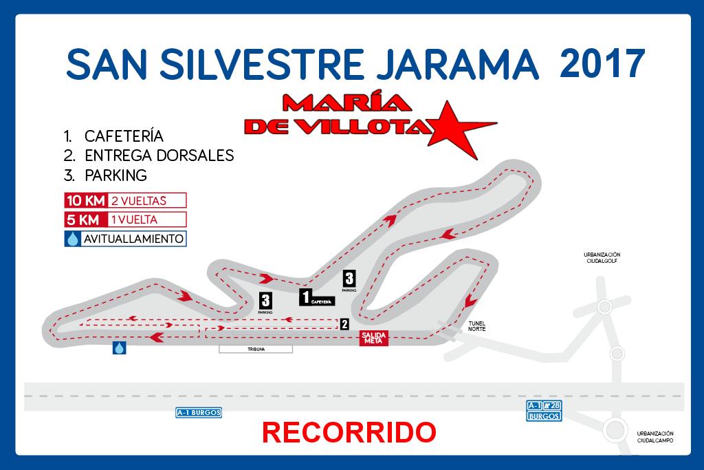 Recorrido IV San Silvestre Jarama